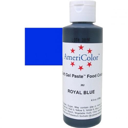 Краситель пищевой AmeriColor Royal Blue (Королевский синий) 128 гр