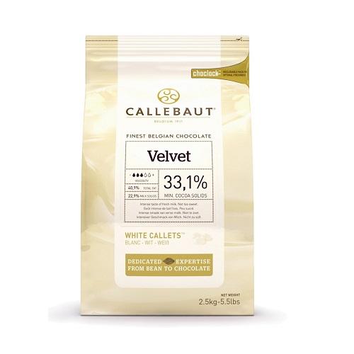 Белый бельгийский шоколад Velvet 33.1% Barry Callebaut 2,5 кг