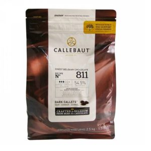 Бельгийский темный шоколад 54.5% Barry Callebaut 2.5 кг