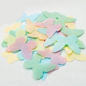 Вафельные бабочки одноцветные без рисунка 10 шт