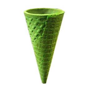 Вафельный рожок Зеленый ровный край 110 мм 10 шт