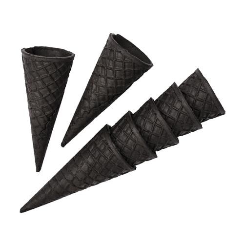 Вафельный рожок Черный ровный край 110 мм 10 шт