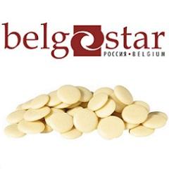 Глазурь шоколадная белая отбеленная Belgostar 0.5 кг