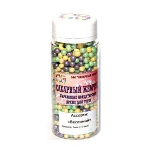 Жемчуг сахарный Весенний перламутр 5 мм