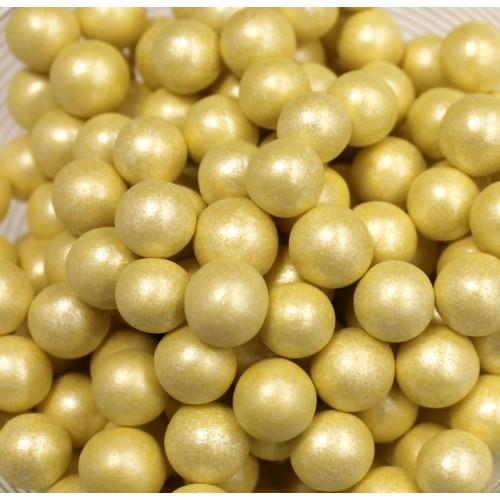 Жемчуг сахарный Желтый перламутр 10 мм