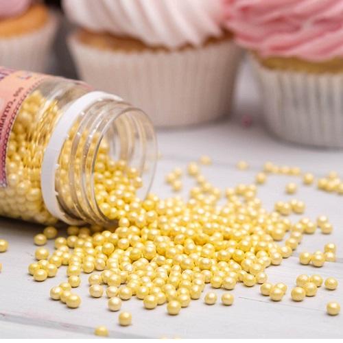 Жемчуг сахарный Желтый перламутр 3 мм