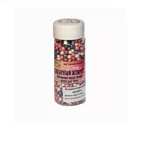 Жемчуг сахарный Сиреневый рассвет перламутр 5 мм