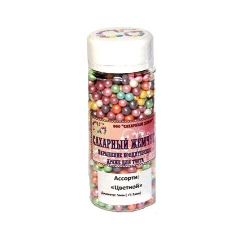 Жемчуг сахарный Цветной перламутр 5 мм