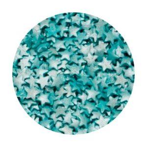 Звезды голубые перламутровые 100 гр