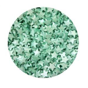 Звезды зеленые перламутровые 100 гр