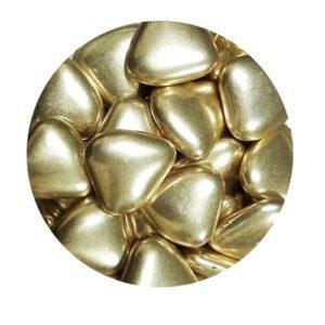 Золотые сердечки 23 мм 100 гр