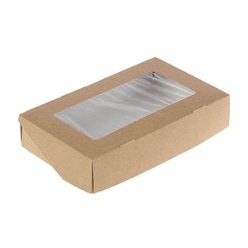 Кондитерская упаковка с окном 20х12х4 см