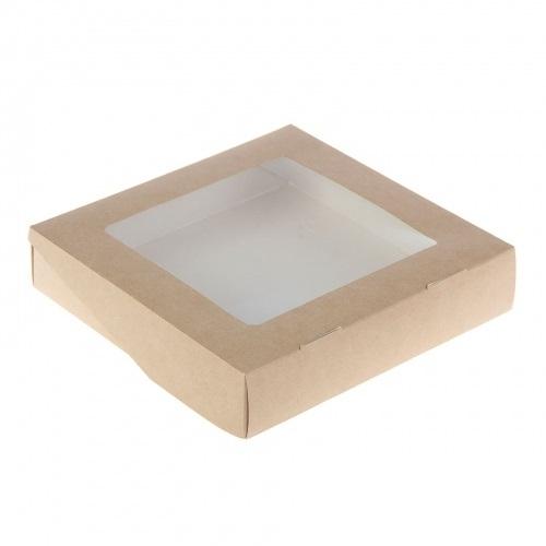 Кондитерская упаковка с окном 20х20х4 см