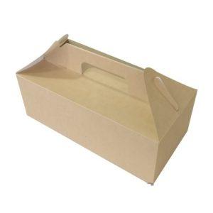 Кондитерская упаковка с ручками 29 х 14 х 10 см