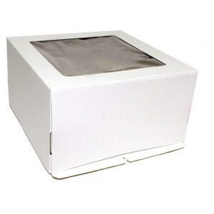 Коробка для торта с окном Гофрокартон, 30х30х13 см.