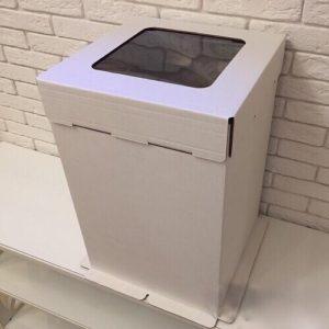 Коробка для торта с окном Гофрокартон, 30х30х45 см.