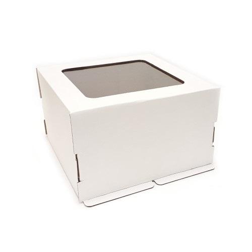 Коробка для торта с окном Гофрокартон, 35х35х25 см.