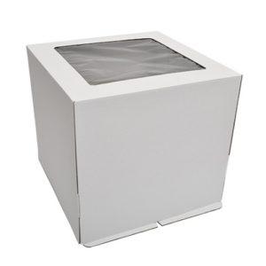 Коробка для торта с окном Гофрокартон, 35х35х35 см.