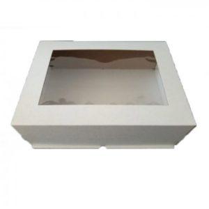 Коробка для торта с окном Цифра 30х40х13 см