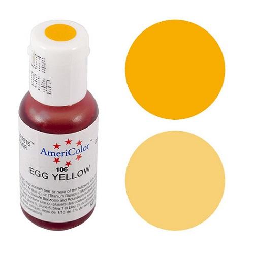 Краситель пищевой AmeriColor Egg Yellow (Яично желтый) 21 гр