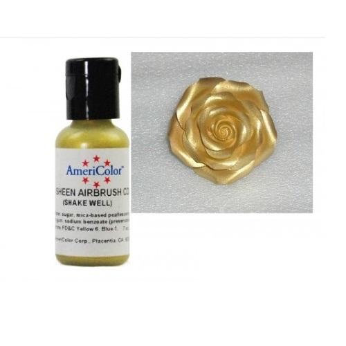 Краситель пищевой AmeriColor Gold Sheen (Сияющее золото) 19 гр
