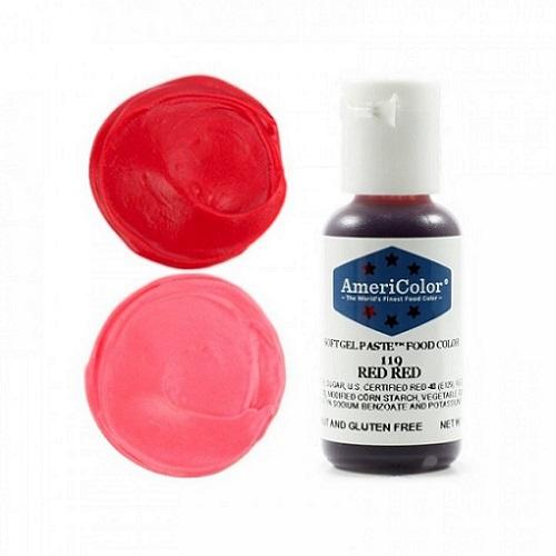 Краситель пищевой AmeriColor Red Red (Ярко красный) 21 гр