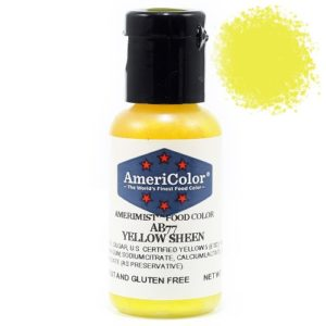 Краситель пищевой AmeriColor Yellow Sheen (Сияющий желтый) 19 гр