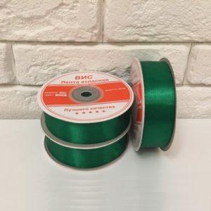 Лента атласная, цвет зелёный 25мм, длина 27 м