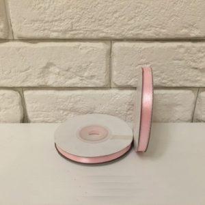 Лента атласная, цвет розовый 6мм, длина 27 м