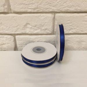 Лента атласная, цвет синий 6мм, длина 27 м