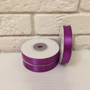 Лента атласная, цвет фиолетовый 12мм, длина 27 м