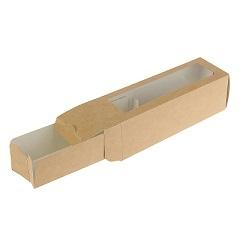 Коробка для Макарунс с окном Крафт на 6 шт