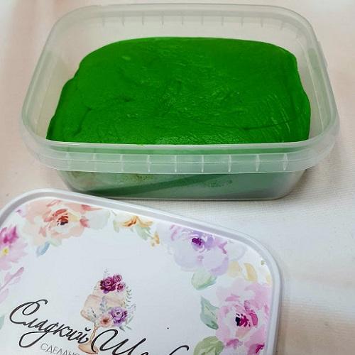 Купить готовую мастику Сладкий шелк травянисто-зеленая 0,25 кг
