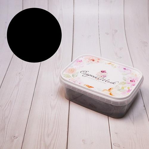 Черная мастика сладкий шелк 0,5 кг