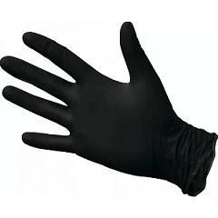 Перчатки нитриловые черные S 10 шт
