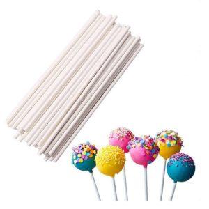 Палочки для кейк-попсов белые 10 см 50 шт