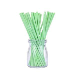 Палочки для кейк-попсов зеленые 10 см 50 шт