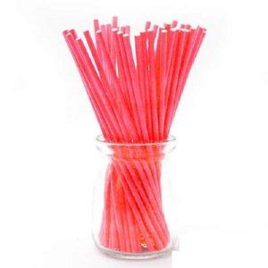 Палочки для кейк-попсов красные 10 см 50 шт