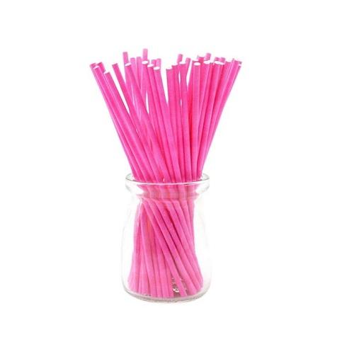 Палочки для кейк-попсов розовые 10 см 50 шт