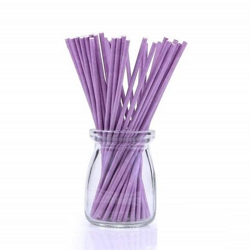 Палочки для кейк-попсов фиолетовые 10 см 50 шт