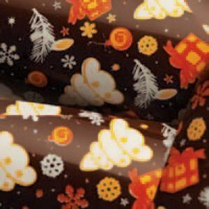 Переводной лист-пленка для шоколада НОВОГОДНЯЯ
