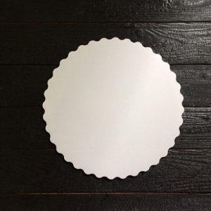 Подложка белая с ажурным краем 3,5мм d 28 см