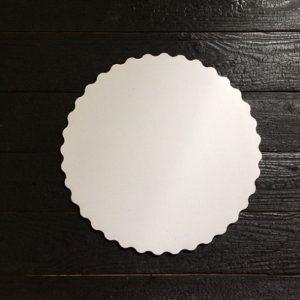 Подложка белая с ажурным краем 3,5мм d 30 см