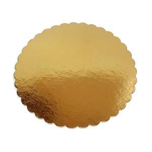 Подложка золото фигурная усиленная 3мм d 20 см