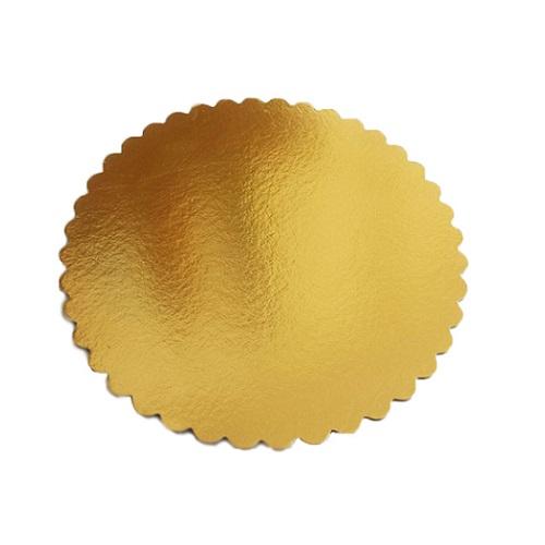 Подложка золото фигурная усиленная 3мм d 26 см
