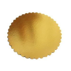 Подложка золото фигурная усиленная 3мм d 30 см