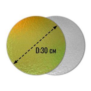 Подложка золото 0,8мм d 30 см
