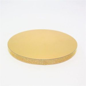 Подложка со стразами золото 20мм диаметр 28 см