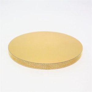 Подложка со стразами золото 20мм диаметр 32 см