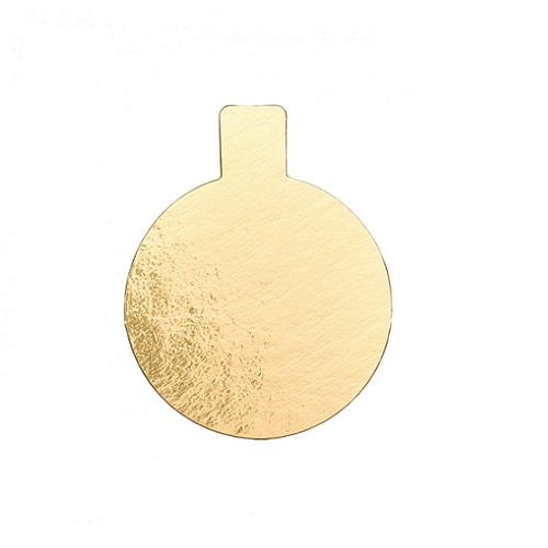 Подложка c держателем золото 0,8мм d 10,5 см